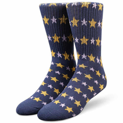 Womens Starry Crew Socks
