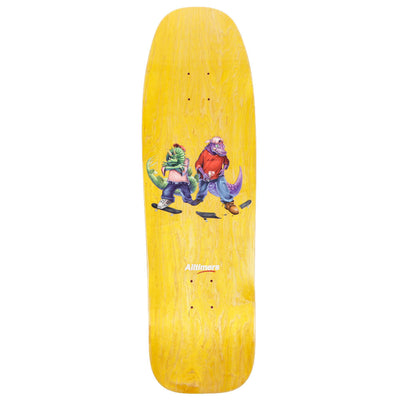 Yellow Fossil Gang Cruiser Skateboard Deck