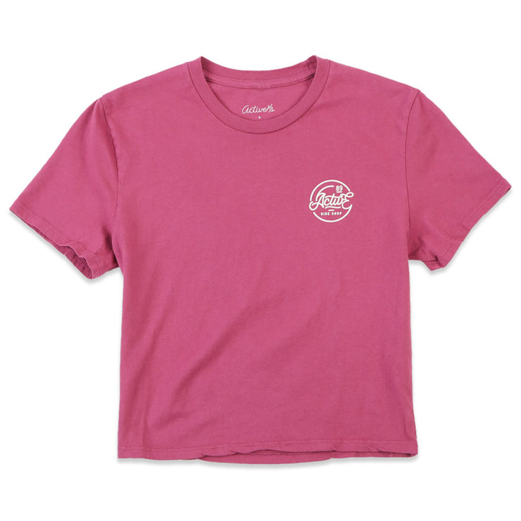Circle Logo Crop T-Shirt