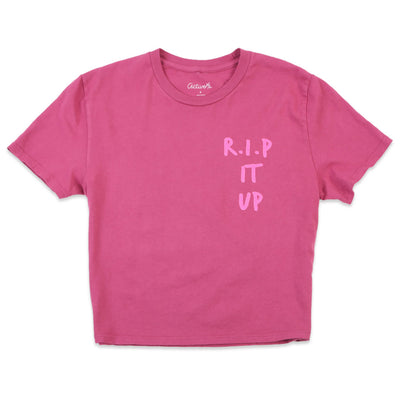 Rip It Up Crop T-Shirt