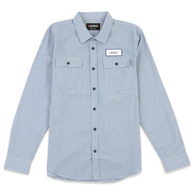 Stripe Long Sleeve Work Shirt