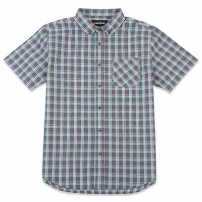 Plaid Poplin Short Sleeve Work Shirt