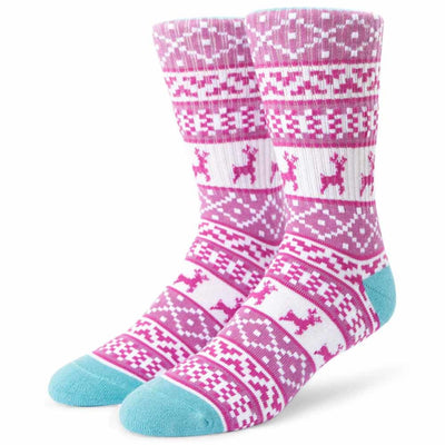 Womens Reindeer Crew Sock