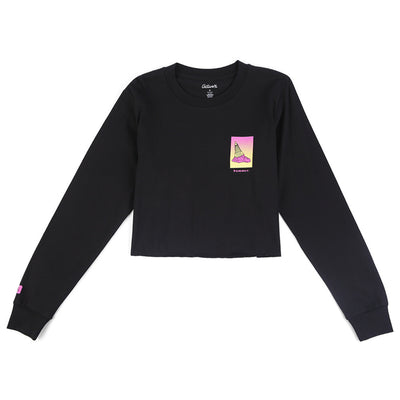 Bummer Long Sleeve Cropped T-Shirt
