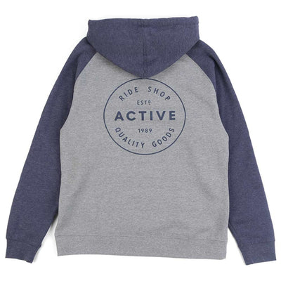 Stamp Logo Raglan Hooded Sweatshirt