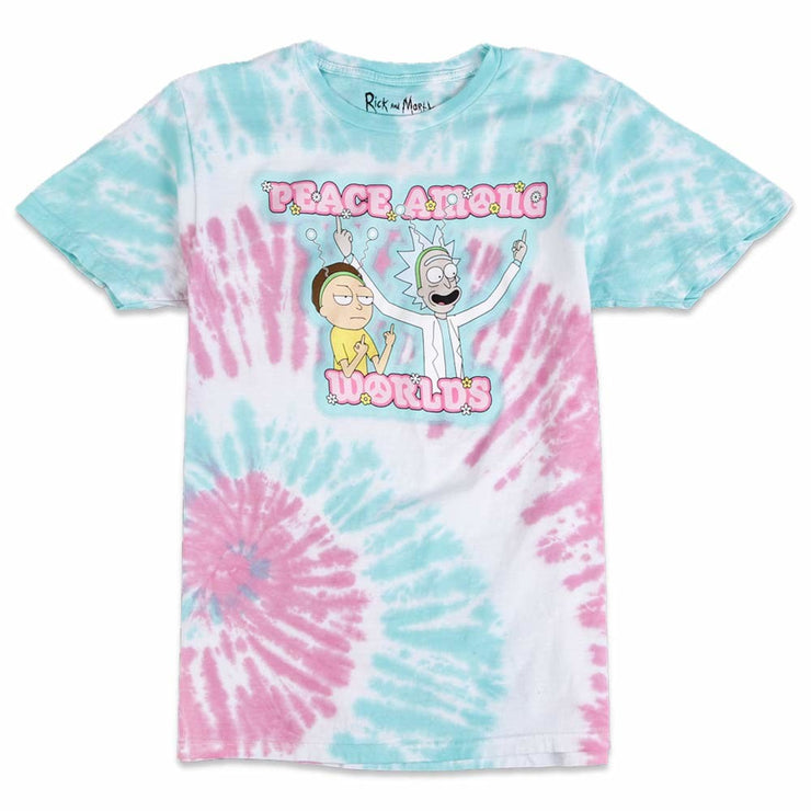 Rick & Morty Peace Tie Dye Tee