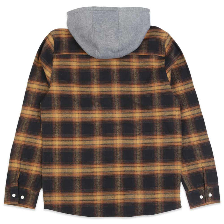 Posted Hooded Plaid Flannel