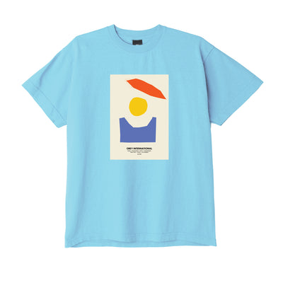 Abstract T-Shirt - Vapor Blue