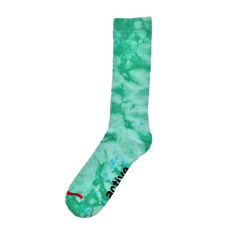 Mens Tie Dye Socks Green