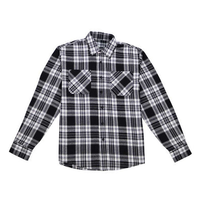 Button Down Flannel Shirt - Black/White