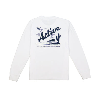 Womens Baker Long Sleeve T-Shirt - White
