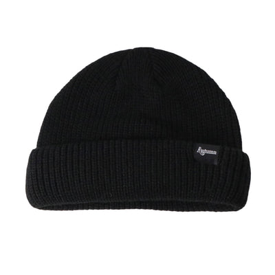 Shorty Double Roll Beanie - OS - Black