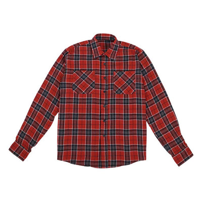 Button Down Flannel Shirt - Rustic Black