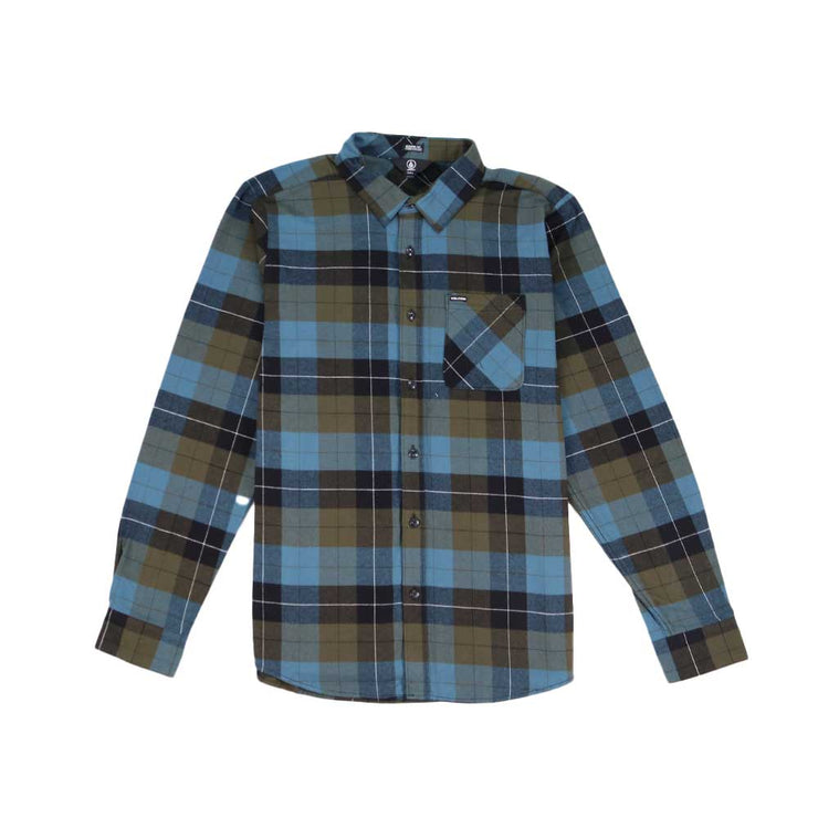 Cadin Plaid Long Sleeve - Military