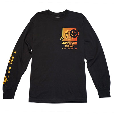 Kyoto Long Sleeve T-Shirt - Black