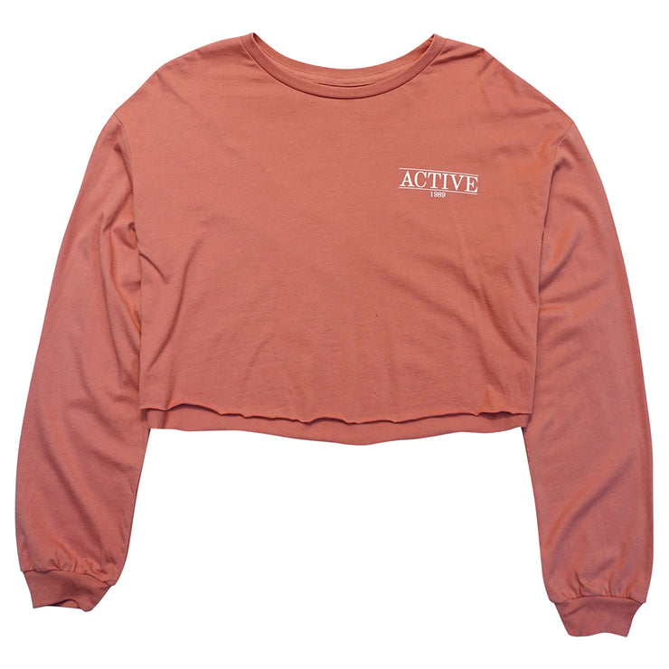 Sundaze Long Sleeve Crop T-Shirt - Puple