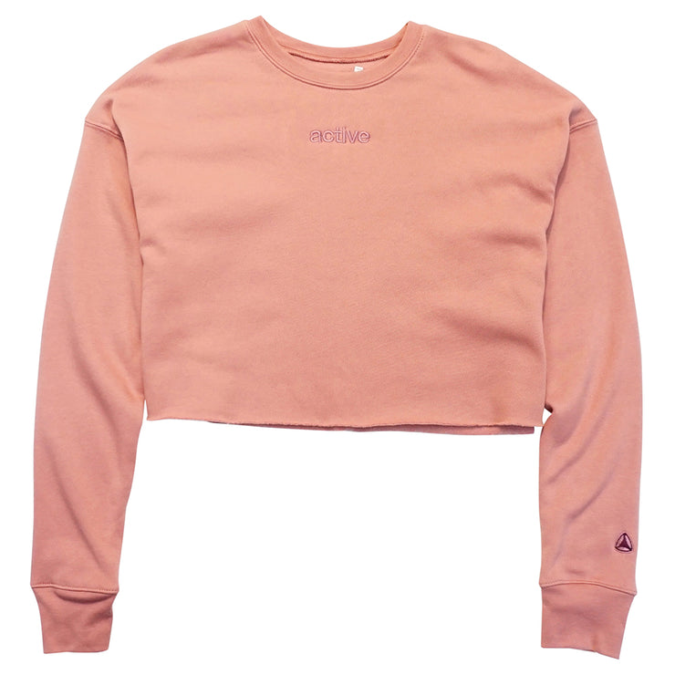 Lock Up Crop Crew - Pink