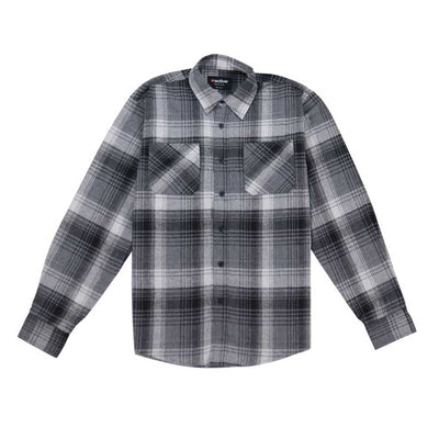 Button Down Flannel Shirt - Gray Buffalo