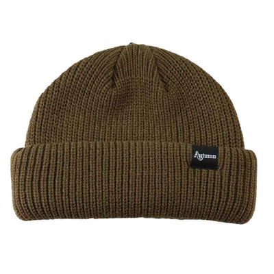 Shorty Double Roll Beanie - OS - Army Green