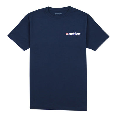 Chest Hit Lock Up Youth Tee - Navy