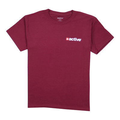 Chest Hit Lock Up Youth Tee - Maroon