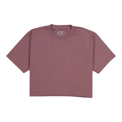 WM Crop Tee - Mauve