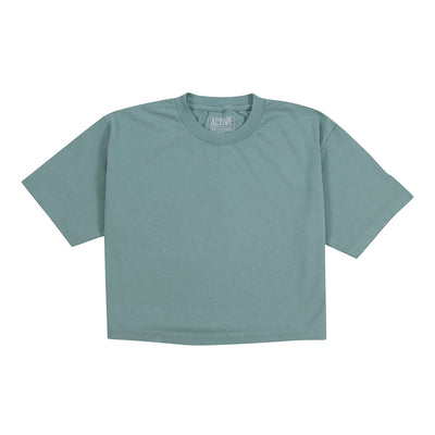 WM Crop Tee - Atlantic Green