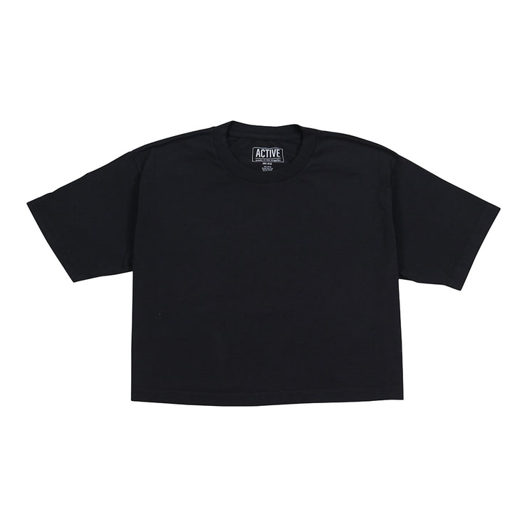 WM Crop Tee - Black
