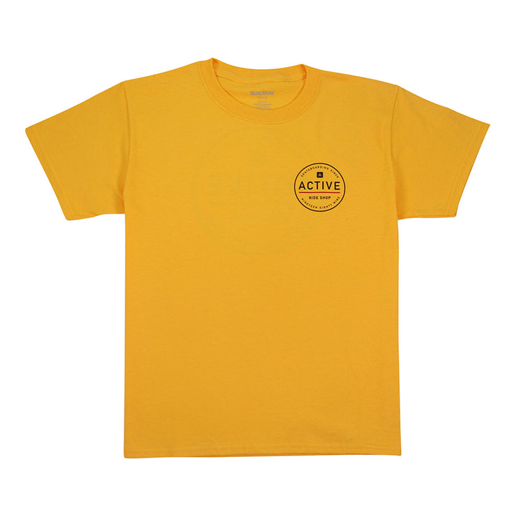 Stamp Youth T-Shirt - Gold