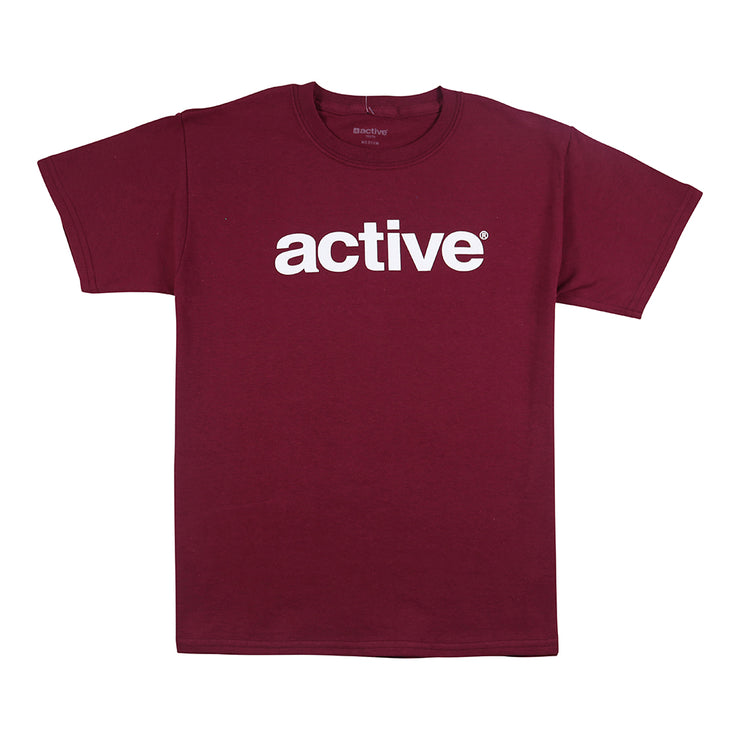 Lockup Youth T-Shirt - Burgundy