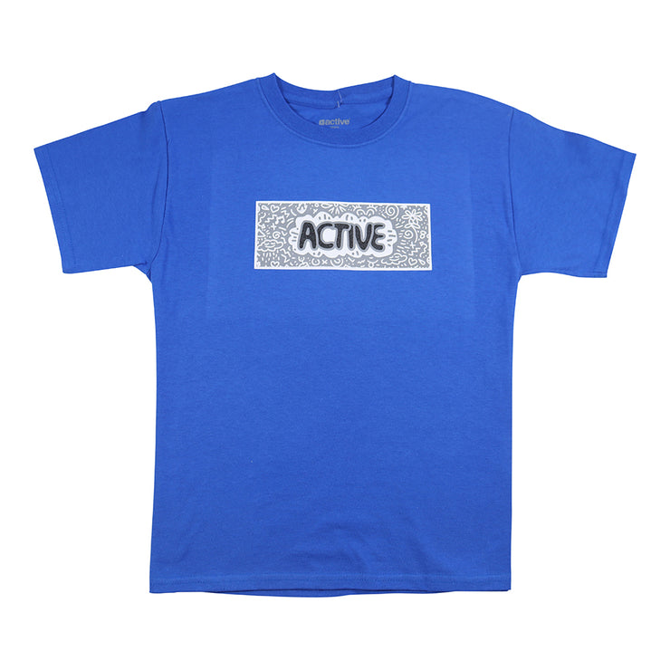 Doodle Youth T-Shirt - Royal