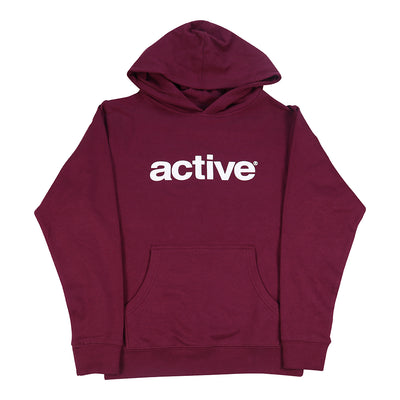 Lockup Youth Hoodie - Burgundy
