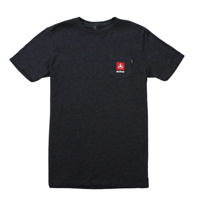 Stacked Lock Up Small T-Shirt - Charchoal Heather
