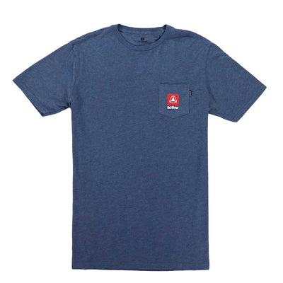 Stacked Lock Up Small T-Shirt - Denim Heather