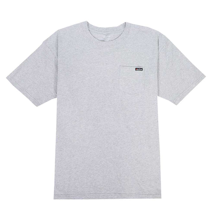 Active Pocket T-Shirt - Heather Grey