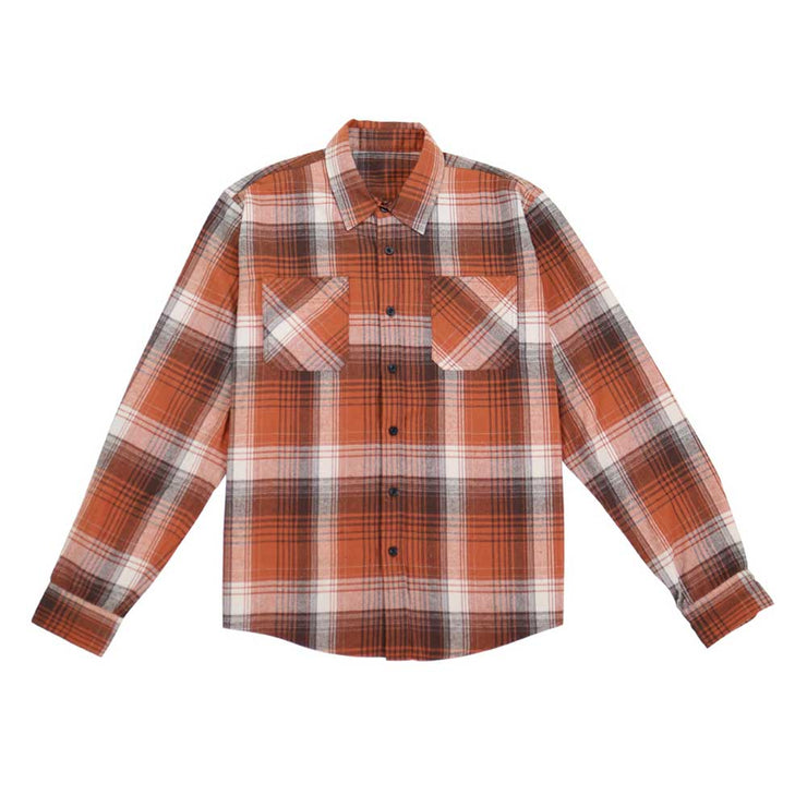 Button Down Flannel Shirt - Rust