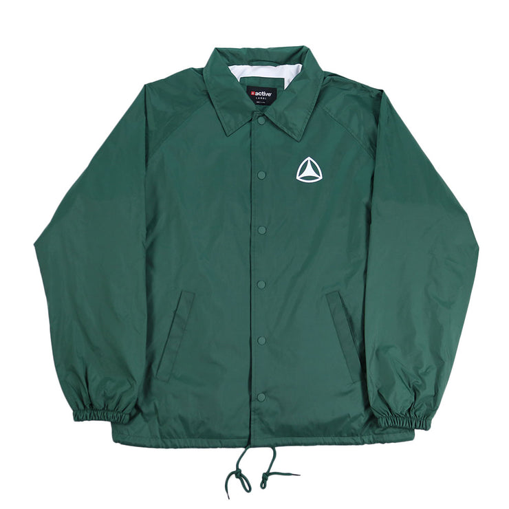 Wavy Coaches Jacket - Forest Green
