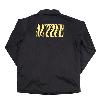 Wavy Coaches Jacket - Black