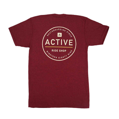 Stamp T-Shirt - Burgandy Heather
