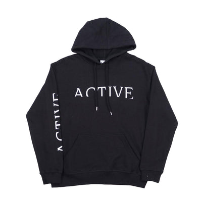 Womens Short Cut Hooded Sweatshirt - Black