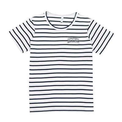 Ivy Stripe Knit - White/Navy