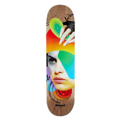 Face Collage Brown Deck - Multi