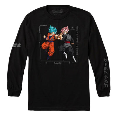 Goku Versus Long Sleeve T-Shirt - Black