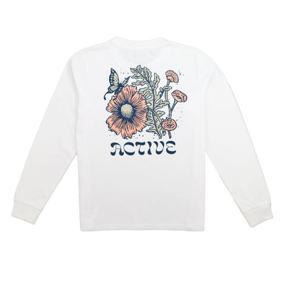 Bloom Long Sleeve Tee - White