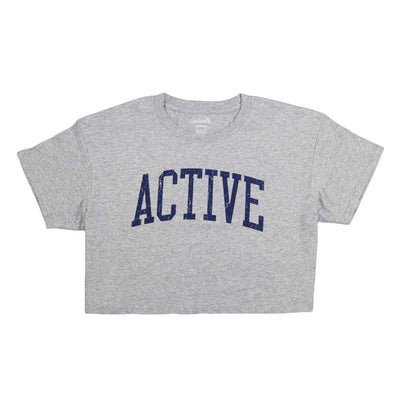 Ivy Crop Tee - Athletic Grey
