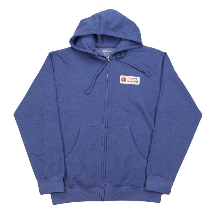 Aviator Zip Hoodie - Heather Blue