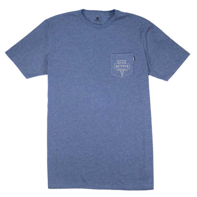 Badge T-Shirt - Denim Heather
