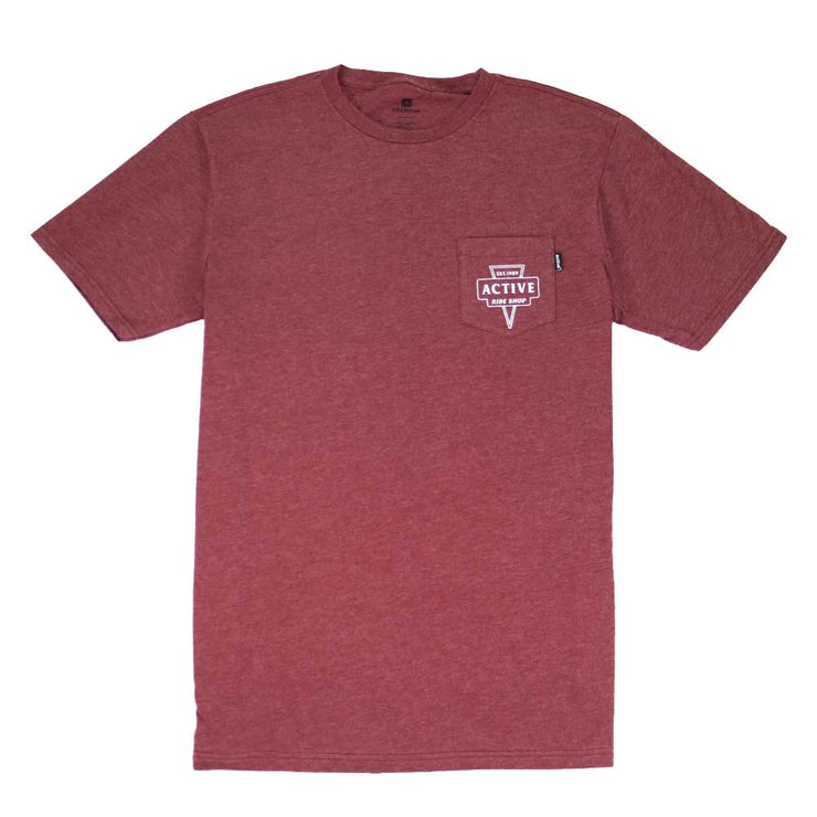 Badge T-Shirt - Burgundy