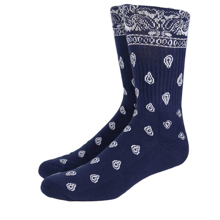 Bandana Crew Sock - Blue