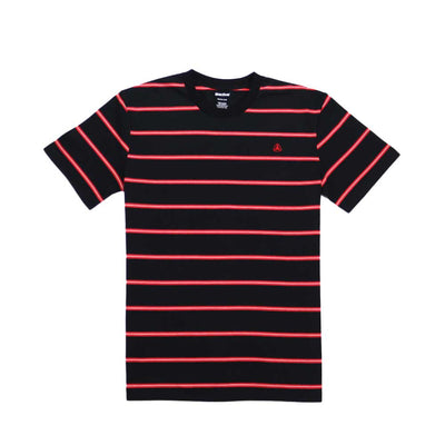 Bert Stripe Tee - Black/Red